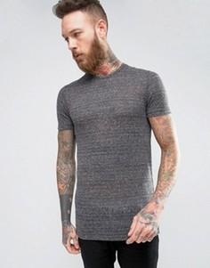 Фактурная обтягивающая футболка ASOS - Серый