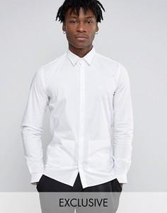 Строгая узкая рубашка с заостренным воротником и карманами Hart Hollywood - Белый