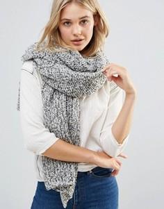 Oversize-шарф крупной вязки Free People - Серый