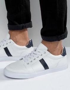 Белые кроссовки в стиле ретро на толстой подошве ASOS - Белый