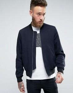 Темно-синяя фактурная куртка-пилот Paul Smith - Темно-синий