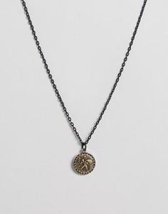 Ожерелье с подвеской Icon Brand - Черный