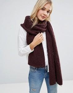 Oversize-шарф крупной вязки Free People - Фиолетовый