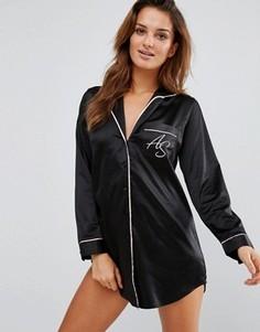 Атласная ночная сорочка Ann Summers - Черный
