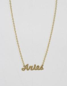 Ожерелье со знаком зодиака Овен Rock N Rose - Золотой