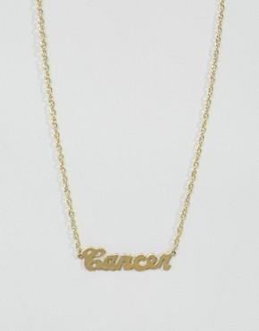 Ожерелье со знаком зодиака Рак Rock N Rose - Золотой