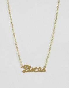 Ожерелье со знаком зодиака Рыбы Rock N Rose - Золотой