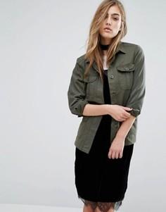 Куртка-рубашка Miss Selfridge - Зеленый