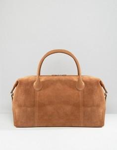 Светло-коричневая сумка из кожи и замши ASOS - Рыжий