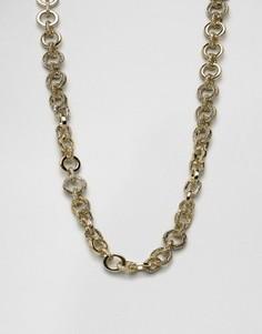 Золотистое ожерелье cо звеньями House Of Harlow - Золотой