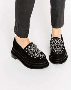 Черные туфли на платформе с кольцами для пирсинга Jeffrey Campbell - Черный