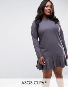Трикотажное платье ASOS CURVE - Серый