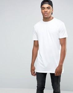 Белая удлиненная футболка New Look - Белый