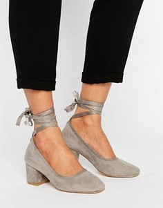 Туфли на каблуке с завязками вокруг щиколотки Kurt Geiger Treacle - Серый