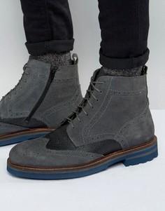 Ботинки-броги Rule London - Серый