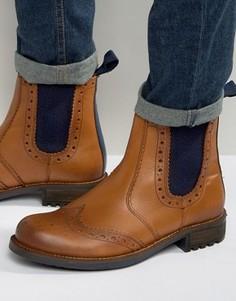 Ботинки-броги Front - Рыжий