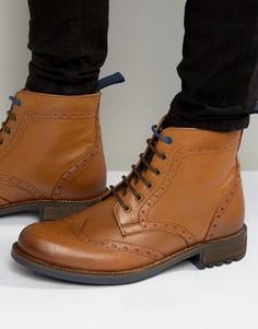 Ботинки-броги на шнуровке Front - Коричневый