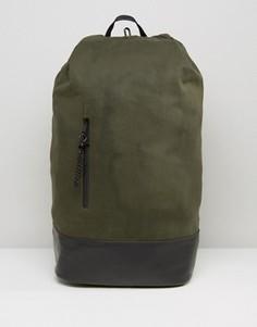 Рюкзак с застежкой на навесных петлях ASOS - Зеленый