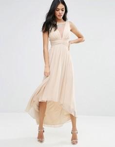 Платье макси с удлиненной спинкой Little Mistress - Бежевый