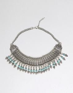 Броское ожерелье с бахромой Raga - Серебряный