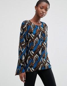 Блузка с принтом b.Young Hally - Мульти