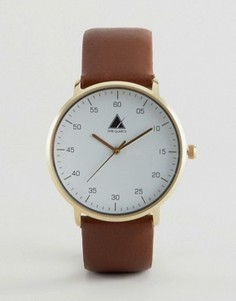 Часы с минималистическим дизайном ASOS - Коричневый
