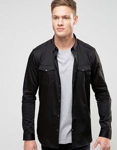 Черная строгая рубашка классического кроя в стиле вестерн New Look - Черный