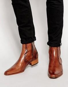 Ботинки в стиле вестерн на молнии Jeffery West - Коричневый