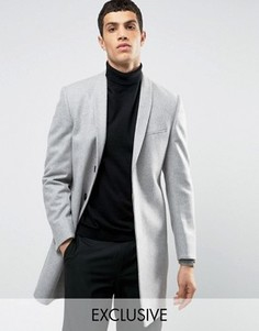 Строгое пальто скинни с лацканами наклонной формы Noak - Серый