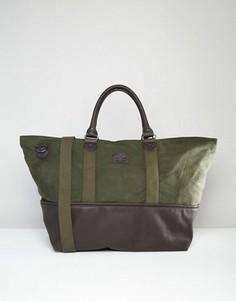 Парусиновая сумка с контрастной отделкой ASOS - Зеленый