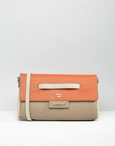 Клатч с ремешком на запястье в стиле колор блок Nali - Оранжевый