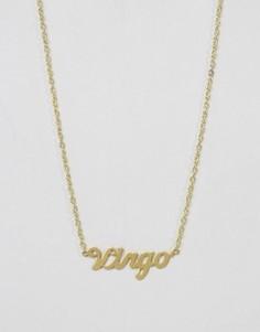 Ожерелье со знаком зодиака Дева Rock N Rose - Золотой