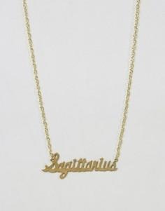 Ожерелье со знаком зодиака Стрелец Rock N Rose - Золотой