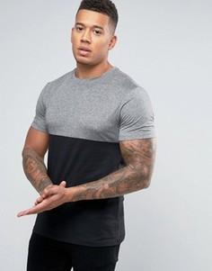 Черная с серым футболка New Look - Черный