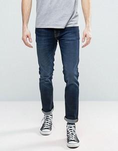 Темные узкие джинсы Nudie GrimTim - Темно-синий
