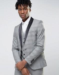 Пиджак в клетку Selected Wedding - Серый