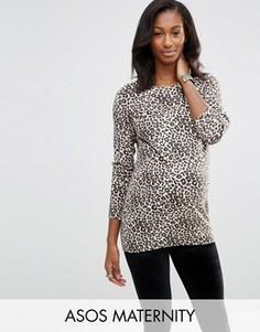 Джемпер для беременных с леопардовым принтом ASOS Maternity - Мульти