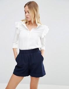 Рубашка с рюшами Alter - Кремовый