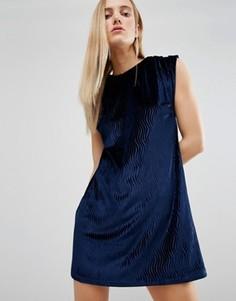 Бархатное платье House Of Holland - Темно-синий