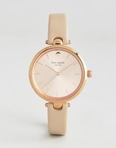 Часы цвета розового золота с кожаным ремешком Kate Spade New York - Золотой