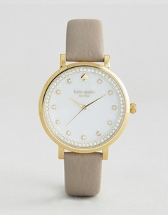 Часы с серым кожаным ремешком Kate Spade New York Monterey - Серый