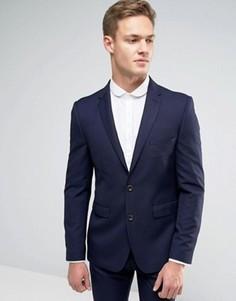 Узкий пиджак Burton Menswear - Темно-синий
