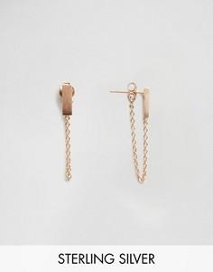 Серьги-протяжки с покрытием из розового золота Pieces & Julie Sandlau Juna - Золотой