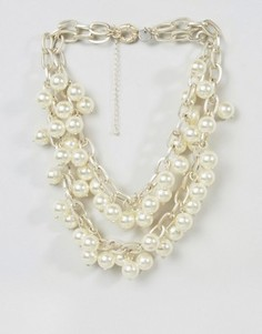 Ожерелье с жемчугом Abercrombie and Fitch - Кремовый