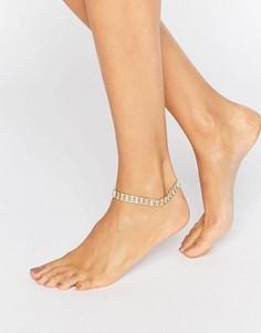 Браслет на ногу ASOS NIGHT - Прозрачный