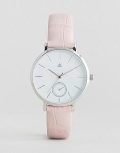 Часы с розоватым ремешком в стиле крокодиловой кожи ASOS - Розовый
