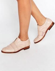 Розовые кожаные броги‑слипоны Hudson London Maddie - Розовый