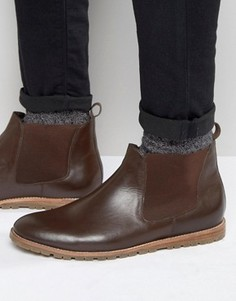 Коричневые кожаные ботинки челси Frank Wright - Коричневый