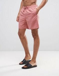 Светло-розовые шорты для плавания средней длины ASOS - Розовый