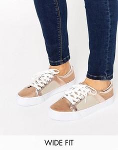 Сетчатые кроссовки для широкой стопы ASOS DANI - Бежевый
